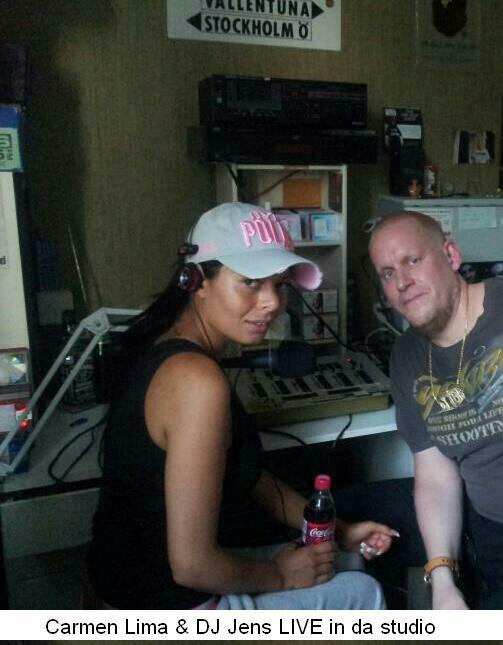 Carmen Lima & DJ Jens in da MRS studio