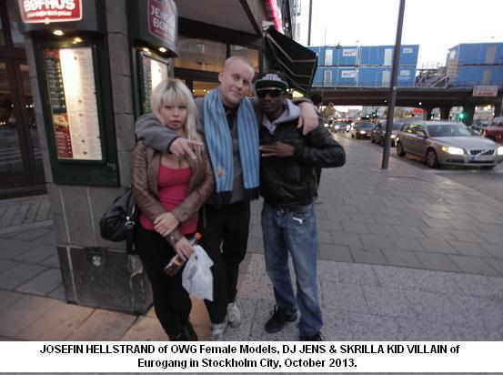 Josefin Hellstrand, DJ Jens & Skrilla Kid Villain in Sthlm City October 2013