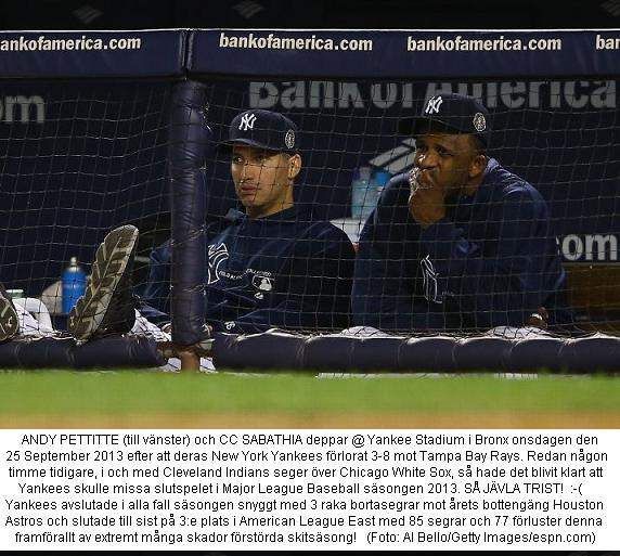Yankees Miss Postseason 2013