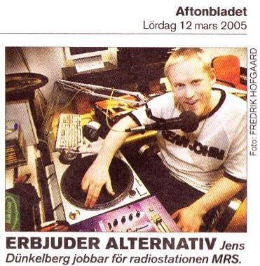 DJ Jens in Aftonbladet 2009