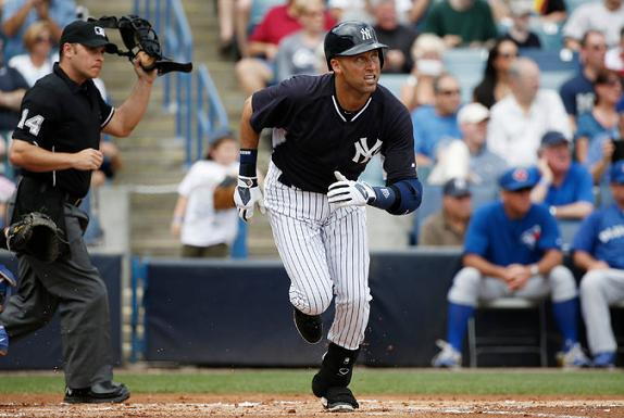 YANKEES-Jeter-Spring Training vs. Blue Jays, Match 23, 2014