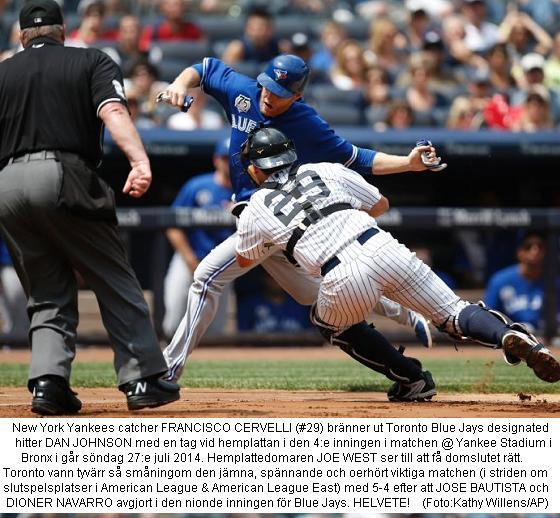 Blue Jays 5 @ Yankees 4 - 20140727