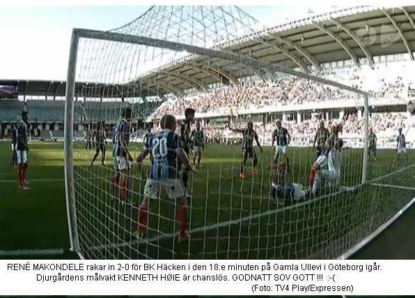 häcken - dif 2-0 mål HELVETE
