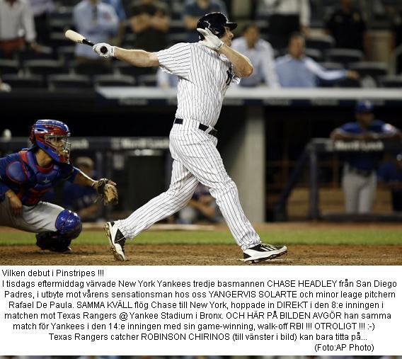 Headleys Incredible Yankees Debut 20140722