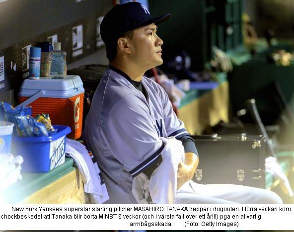 Tanaka deppar skadad
