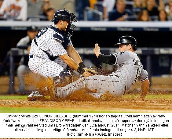 Cervelli Tag vs. White Sox 20140822