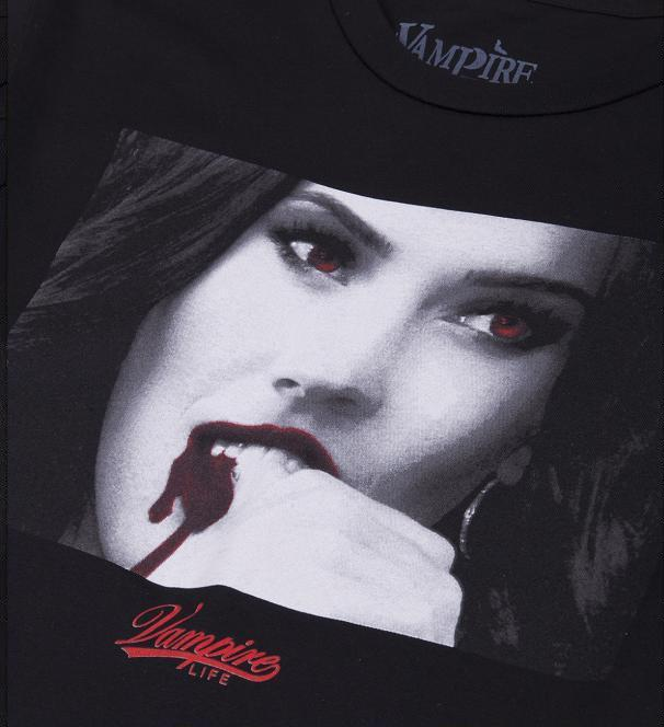 The Fox Vamped Tee in Black by Vampire Life