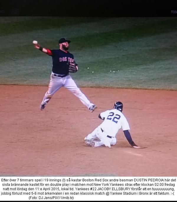 Pedroia throws and Red Sox wins 19 inning drama vs. Yankees 20150410-11