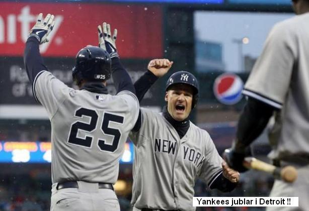 Yankees Jublar i Detroit 20150422