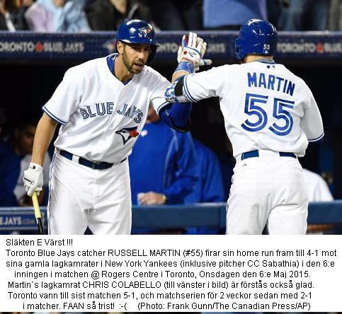 Martin Sänker Yankees i Toronto 20150506