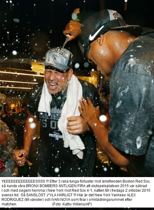 A Rod & Nova Celebrate Yankees Back in da Postseason Thursday Oct 1 - 2015