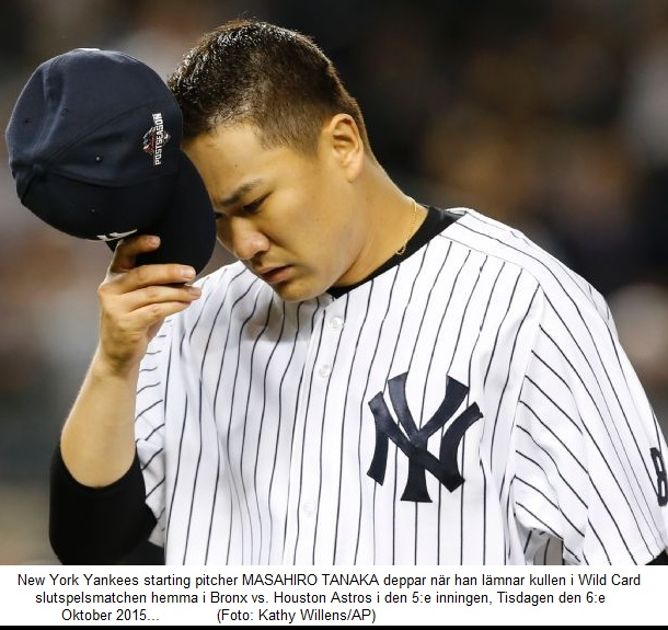 Tanaka deppar - New York Yankees utslagna MLB postseason 2015   20151006