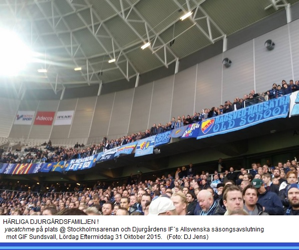 DIF sista matchen 2015 - 31 Oktober - Foto DJ Jens