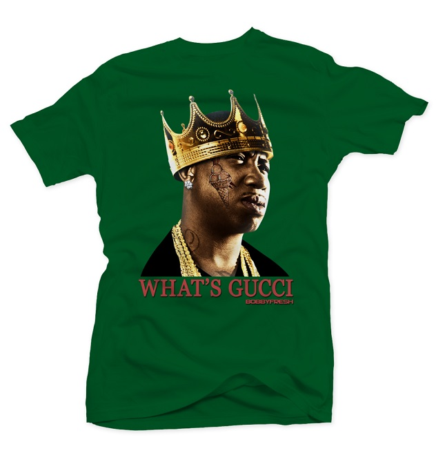 bobby fresh - whats gucci - green tee